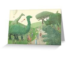 The Night Gardener - Summer Park  Greeting Card