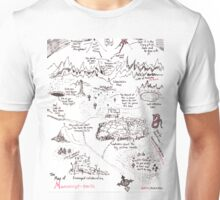 A Map of Manuscript Earth Unisex T-Shirt