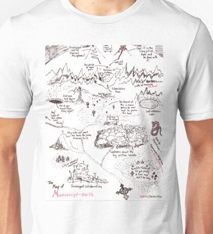 A Map of Manuscript Earth Unisex T-Shirt