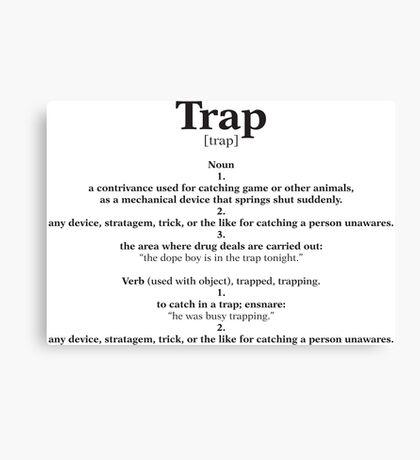 Trap Education Canvas Print