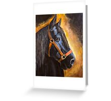 Fern, Percheron Draft Horse Greeting Card