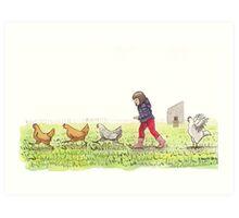 Chicken Chaser Art Print