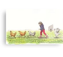 Chicken Chaser Metal Print