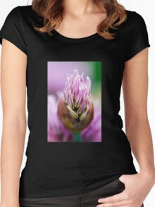 Chive Blossom 5 Women's Fitted Scoop T-Shirt