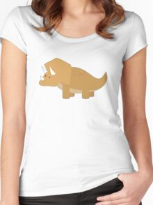 Dinosaur1 Women's Fitted Scoop T-Shirt