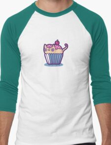 Catcupcake Men's Baseball ¾ T-Shirt