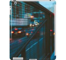 Blurred car lights iPad Case/Skin