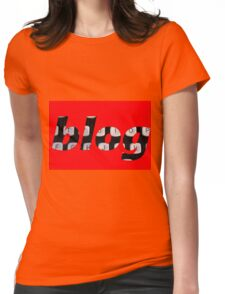 blog background Womens Fitted T-Shirt