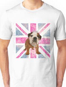 British Bulldog Floral Union Jack Unisex T-Shirt
