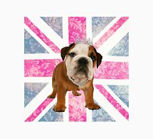 British Bulldog Floral Union Jack Womens Fitted T-Shirt