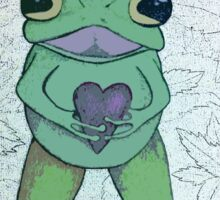 Love Frog Sticker