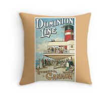 Vintage ocean travel Liverpool Canada advert Throw Pillow