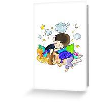 sleeping dan and phil Greeting Card