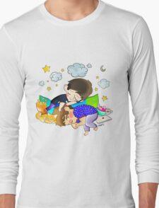 sleeping dan and phil Long Sleeve T-Shirt