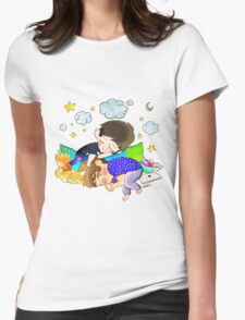 sleeping dan and phil Womens Fitted T-Shirt