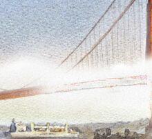 San Francisco Fog - Golden Gate Bridge Sticker