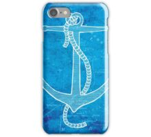 Anchor, Illustration Over Nautical Map iPhone Case/Skin