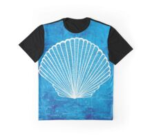 Shell, Illustration Over Nautical Map Graphic T-Shirt