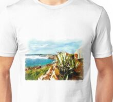 Island Caprera: sea landscape and acacia Unisex T-Shirt