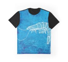 Shrimp, Illustration Over Nautical Map Graphic T-Shirt