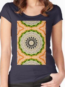 Abstract Alphabet Design 2 Women's Fitted Scoop T-Shirt