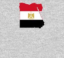 Flag Map of Egypt  Unisex T-Shirt