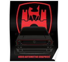VW Golf GTI Mk2 Wolfsburg Grey Edition Poster