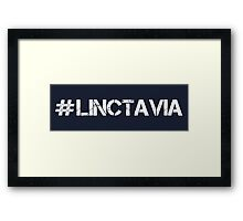 #LINCTAVIA (White Text) Framed Print
