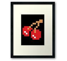 8-Bit Cherry Framed Print