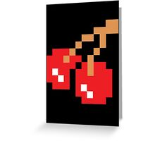 8-Bit Cherry Greeting Card