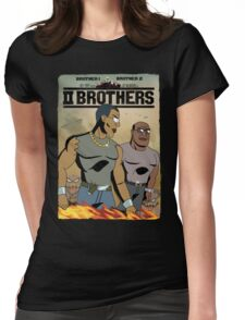 TWO BROTHERS!! - www.shirtdorks.com Womens Fitted T-Shirt