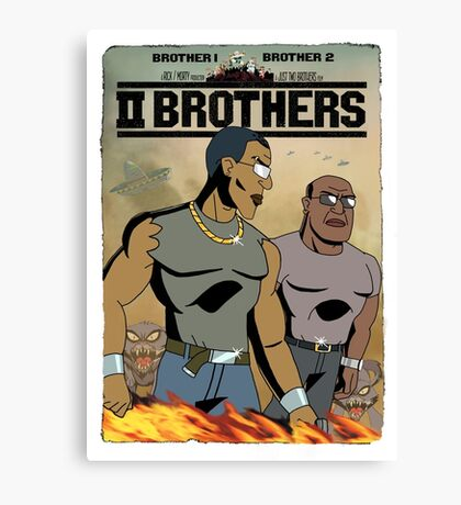TWO BROTHERS!! - www.shirtdorks.com Canvas Print