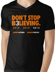 DON'T STOP B3LIEVING 2014 Mens V-Neck T-Shirt