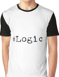 """#Logic"" black Graphic T-Shirt"