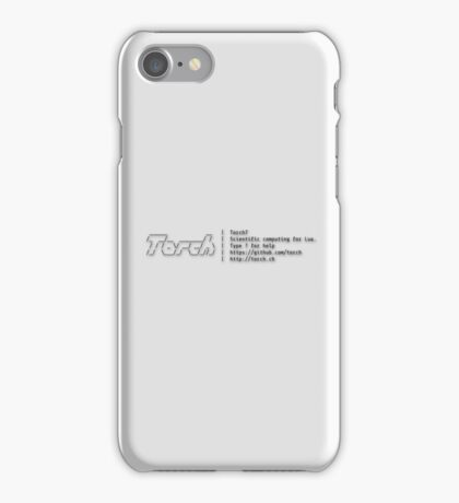 Torch - A SCIENTIFIC COMPUTING FRAMEWORK FOR LUAJIT iPhone Case/Skin