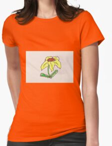 cute yellow flower Womens Fitted T-Shirt