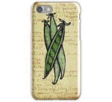 Peas, Illustration Over Recipe Handwriting iPhone Case/Skin