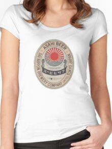JAPANESE BEER ASAHI Women's Fitted Scoop T-Shirt