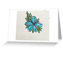 blue hibiscus  Greeting Card