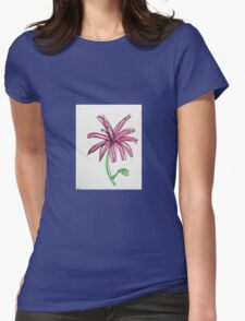 pink daisy  Womens Fitted T-Shirt