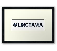 #LINCTAVIA (Navy Text) Framed Print