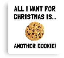 Christmas Cookie Canvas Print