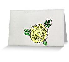 yellow poppy flower Greeting Card