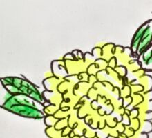 yellow poppy flower Sticker