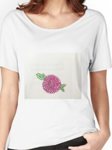pink poppy flower Women's Relaxed Fit T-Shirt