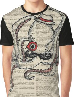 Octopus with Monocle Graphic T-Shirt