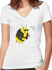 Festival Bees Women's Fitted V-Neck T-Shirt