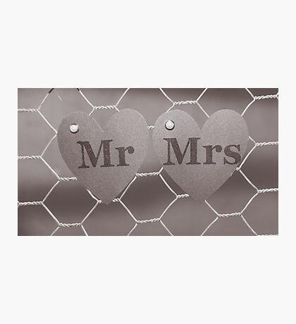Mr & Mrs Photographic Print
