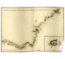 American Revolutionary War Era Maps 1750-1786 872 Sketch of Haddonfield March 1778 Sketch of the roads from Pennyhill to Black Horse through Mount Holly Poster