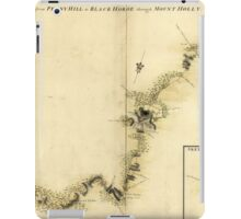 American Revolutionary War Era Maps 1750-1786 872 Sketch of Haddonfield March 1778 Sketch of the roads from Pennyhill to Black Horse through Mount Holly iPad Case/Skin